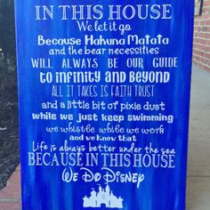 In This House Disney Canvas
