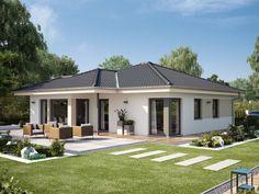Bungalow Haus Design, Modern Bungalow House, Bungalow Exterior, Bungalow House Plans, Dream House Exterior, Model House Plan, My House Plans, Bedroom House Plans, House Outside Design
