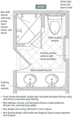 Bathroom Layout Design There are many things you should prepare before you begin to build a bathroom in your house; Small Bathroom Floor Plans, Small Bathroom Layout, Modern Small Bathrooms, Bathroom Design Layout, Tiny Bathrooms, Amazing Bathrooms, Master Bath Layout, Bathroom Designs, Master Bathroom Plans