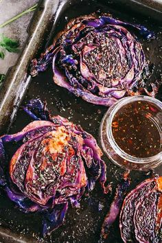 Balsamic Roasted Cabbage Steaks Recipe Looking for a delicious cabbage recipe? Try cabbage steaks! Roasted & crispy cabbage brushed with a sweet and savory balsamic and garlic glaze. Steak Recipes, Vegetable Recipes, Roast Recipes, Chicken Recipes, Roasted Red Cabbage, Roasted Cabbage Recipes, Pickled Red Cabbage, Red Cabbage Salad, Purple Cabbage Recipes