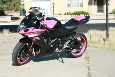 I want a pink motorcycle! Which means I gotta get my shit together and get my permit. :)