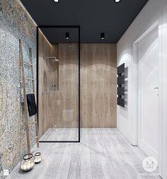 PROJEKT ŁAZIENKI I KUCHNI / GARLICA MUROWANA. - Średnia łazienka na poddaszu w bloku w domu jednorodzinnym bez okna, styl industrialny - zdjęcie od MADO DESIGN Projekty Wnętrz - Kraków