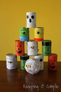 Spooktacular School Crafts and Treats Inspiration Board by Bella Bella Studios~Halloween bowling game. #halloween #bowling #halloween #halloweengames
