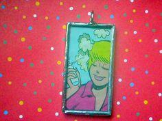 Betty Cooper - Soldered Glass Art Pendant Charm Necklace Archie Comics Betty  Reversible Mirror OOAK. $18.00, via Etsy.