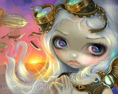 """""""WIndswept"""" new steampunk fairy art by Jasmine Becket-Griffith - prints at the link"""