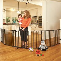 North States Industries Superyard 3-in-1 Arched Decor Metal Gate - as a gate enclosure