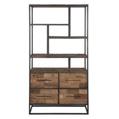 Bookcase low, 4 drawers, 4 open racks d-Bodhi Urban Collection Kasten