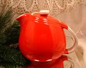 HALLS CHINESE RED Vintage Teapot, Rare, Collection Halls Pottery, 2280,