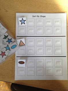 Sorting Task: Sort by Shape. FREE PRINTABLES to create this task.