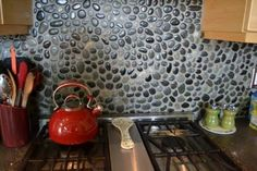 River rock backsplash is going in our kitchen