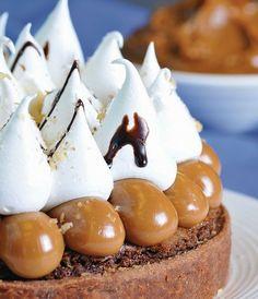 torta brownie  dulce de leche y merengue