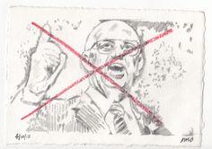 PW Botha  #pencil #drawing #drawings #portraits #people #apartheid #PW #PWBotha #fascist
