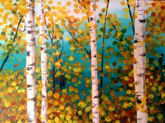 Browse our upcoming painting classes and events at Spokane Pinot's Palette! Reserve your seat for the best paint and sip experience today! Birch Tree Art, Wine And Canvas, Forest Painting, Paint And Sip, Cool Paintings, Tree Paintings, Autumn Art, Art Plastique, Pictures To Paint