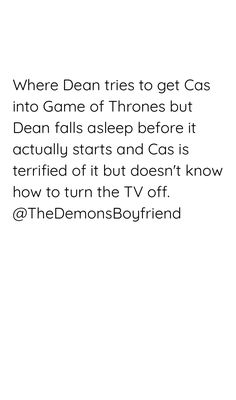 I can see this happening. Follow me, @thedemonsboyfriend