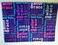 Personalize baby blanket Monogram baby by CuddleMuffinsBlanket Last Names List, Name List, Baby Monogram, Personalized Baby Blankets, Baby Girl Blankets, Receiving Blankets, Baby Names, Etsy, Personalised Baby Blankets