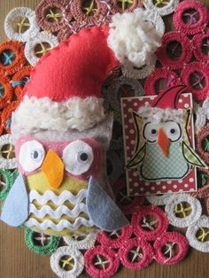 Santa Owl Decoration | AllFreeChristmasCrafts.com