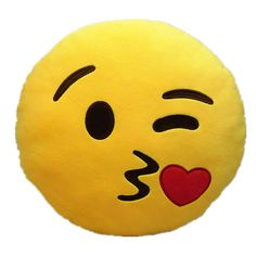 Brand New Emoji Smiley Emoticon Cushion Pillow Stuffed - Material: Polyester Fibers - Size: 32cm(Dia.) x 10cm(Thickness) - Color: As shown in the picture - Style: Throw Kisses - Shape: Round