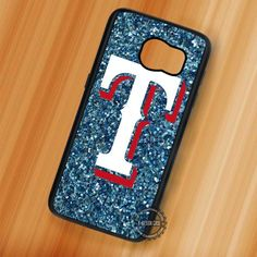 Texas Rangers Baseball Logo Blue Glitter - Samsung Galaxy S7 S6 S5 Note 7 Cases & Covers