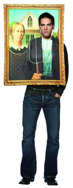 Grant Wood's American Gothic in a frame costume