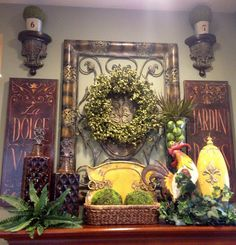 Savvy Seasons by Liz: Tuscan Mantle Vignette
