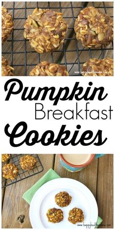 These healthy Pumpkin Breakfast cookies are gluten-free, dairy-free, and totally delicious! Healthy breakfast recipe that is a fall food favorite.