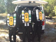 Preparing to dive #rEvo #CCR #Diving http://www.revo-rebreathers.co.uk
