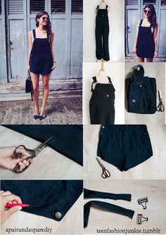 #DIY overalls #teenfashionjunkie