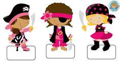 etiquetas cuadernos niñas piratas.