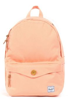 Search no longer the perfect backpack is here! The medium sized salmon pink canvas Sydney backpack from Herschel. It's fully lined with the custom Herschel pinstripe print and features a zipper closure, main compartment with a laptop pocket, and a sec Diy Accessoires, Cute Backpacks, School Backpacks, Estilo Fashion, Bling, Herschel Supply Co, Cute Bags, Bandeau, Fashion Bags