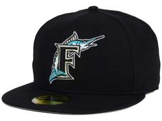 a94aabb0d15db Florida Marlins New Era MLB Cooperstown 59FIFTY Cap New Era Hats