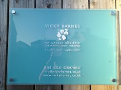 Signage for Vicky Barnes Treatment Room at Court Farm Holidays