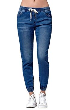 Enjoybuy Womens Jogger Denim Jeans Pants Elastic Drawstring Waisted Stretchy Relaxed Fit Jeans atWom, Amazon Affiliate link. Click image for detail, #Amazon #enjoybuy #womens #jogger #denim #jeans #pants #elastic #drawstring #waisted #stretchy #relaxed #fit #amazon #store #size #larger #regular #closure #material #denimcotton #skinny #adjustable #makes #waistline #classic #blue #boyfriend #women #super Loose Jeans, Lässigen Jeans, Casual Jeans, High Jeans, Jeans Style, High Waist Jeans, Casual Sweaters, Vintage Jeans, Jean Vintage