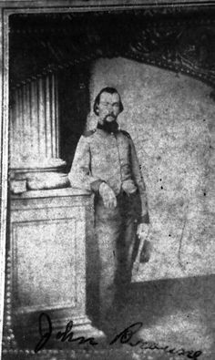 Capt. John Wood Browne Jr. (1839-1864), abt 1862, probably Richmond, VA, initially enlisted April 1862 in New Orleans, Company A, 2nd Louisiana Regiment, became a captain, April 30, 1863 patient in General Hospital No. 108, wound to right leg tibia, July 1853 furlough home; 20 July 1864 killed by  raiders under Gen. Rousseau.