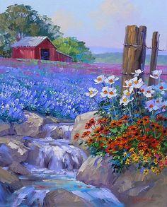 Texas Landscape ~ by Mikki Senkarik, Texas Artist