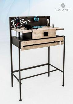 Rozměry: Š-700 x Hl-360 x V-800 mm. Popis: Vrchní čelo s háčky na uchycení šperků a bižuterie, vrchní dřevěná deska s otvory pro kosmetické přípravky, vrchní zásuvka, mezipolice, spodní pojezdový šuplík. Desk, Furniture, Home Decor, Desktop, Decoration Home, Room Decor, Table Desk, Home Furnishings, Office Desk