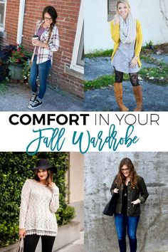 Looking to incorporate comfort in your fall wardrobe?  Click through to find out what that looks like in the lives of some awesome women!