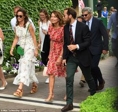 The Middletons returned to Wimbledon today to watch the men's final in what was their combined visit Duchess Kate, Duke And Duchess, Duchess Of Cambridge, James Middleton, Carole Middleton, Wimbledon 2017, Kate Middleton Family, Pippa And James, Royals