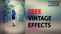 Free Photoshop Vintage effects