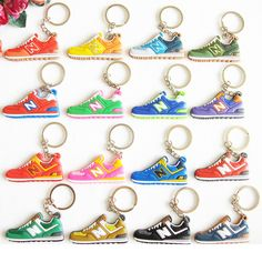 Cute Mini Silicone New Balanceer 574 Key Chain Bag Charm Woman Men Kids Key  Ring Gifts Sneaker Key Holder Jordan Shoes Keychain 02a6b8946ed0