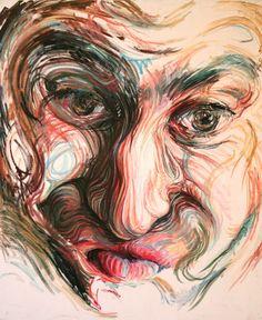Необычные портреты, нарисованные сплошными, плавными линиями / Nikos Gyftakis (2)