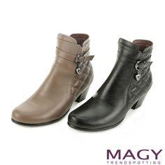 $2780-MAGY 經典復古樂活 垂墜愛心鑽飾粗跟短靴-可可 - Yahoo!奇摩購物中心(可40/65/90-黑缺95)