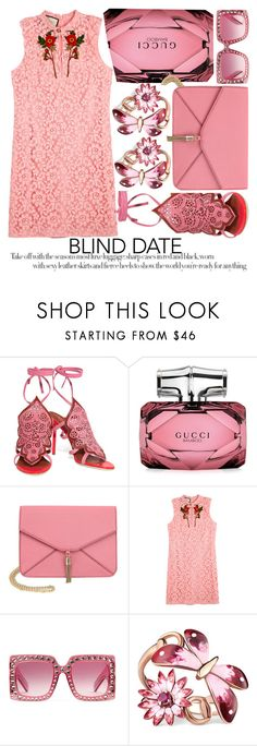 """""""DRESS TO IMPRESS: BLIND DATE #2"""" by noraaaaaaaaa ❤ liked on Polyvore featuring Malone Souliers, Gucci, Olivia Miller, gucci and blinddate"""