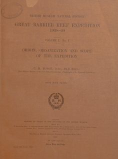 Great Barrier reef expedition, 1928-29 : scient...