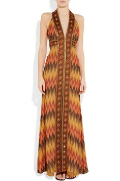 Haute Hippie - Embellished silk-crepe maxi dress