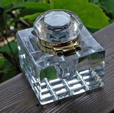 Levenger Clear Crystal Inkwell