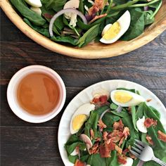 Spinach Salad with Hot Maple Bacon Dressing. Find this and other wonderfully yummy recipes from food artisans around the world at our website yumgoggle.com