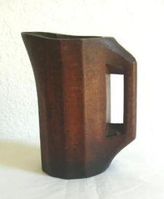 Wooden Pitcher, Late 19th C.