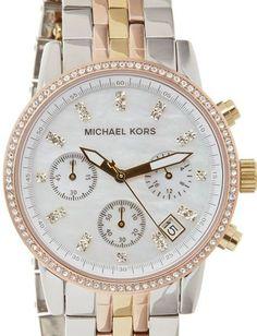Michael Kors Women's MK5650 Ritz Tri-tone Watch : Disclosure: Affiliate link
