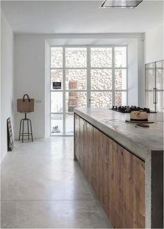 landelijk industrieel rustic industrial keuken kitchen
