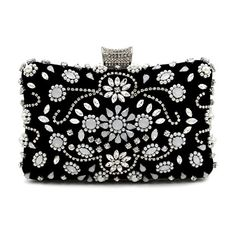 Aliceherry Pearl diamond evening bags luxury silver chain clutch bag elegant black bag party wedding bridal box purse for Women Evening Bags, Evening Gowns, Bridal Boxes, Cheap Plus Size Lingerie, Beaded Bags, Womens Purses, Small Bags, Clutch Wallet, Vintage Ladies
